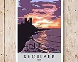 RECULVER. Art Print Travel/Railway Poster Of Reculver Near