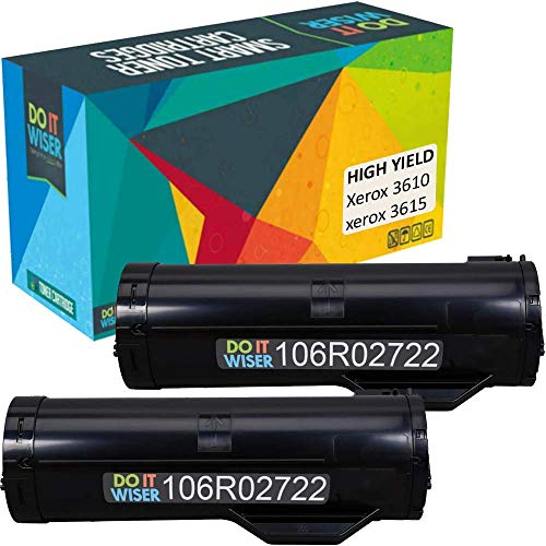 Do it Wiser Compatible Toner Cartridge Replacement for 106R02722 Xerox Phaser 3610 WorkCentre 3615 (14,100 Pages High Yield) 2-Pack