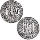 Strugglejewelry Novelty YES NO Challenge Coin Decision Maker, Make Decisions and Answers in Life Easier (Silver)