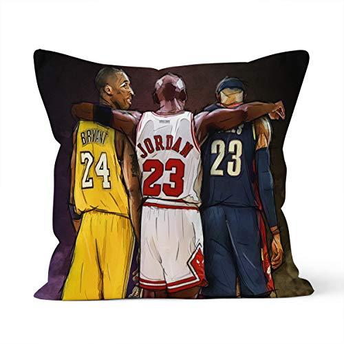 Fundas de almohada decorativas de la NBA Lebron James y Michael Jordan y Kobe Bryant para coche, 40 x 40 cm