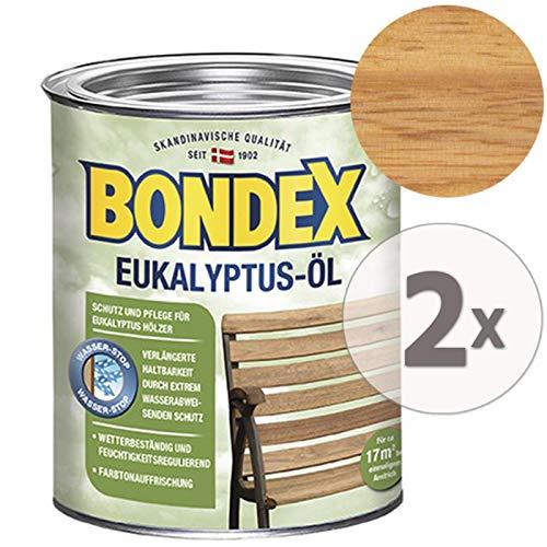 Gardopia Sparpaket: Bondex Eukalyptus-Öl 7072 Holz-Schutz Pflege & Farbauffriischung, 2 x 750 ml