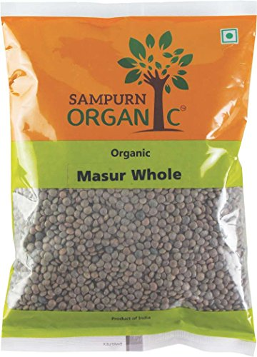 Sampurn Organic Masoor Whole 500 g