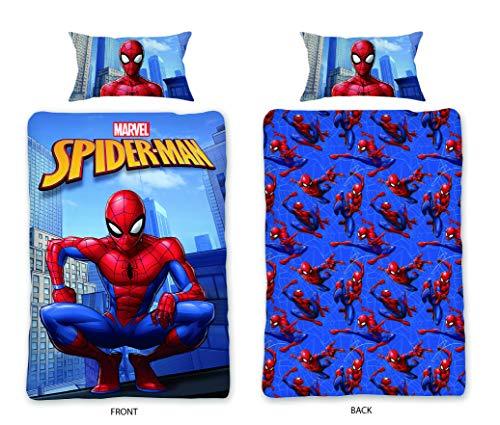 Marvel Comics Spiderman Single Duvet Cover Set Reversible 100% Cotton...