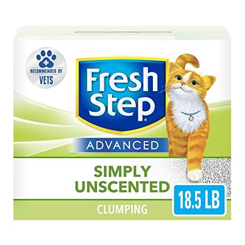 Fresh Step Advanced Simply Unscented Clumping Cat Litter, Recommended by Vets - 18.5 Pounds (Package May Vary)