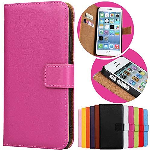 Roar Handy Hülle für HTC One M8, Handyhülle Pink, Tasche Handytasche Schutzhülle, Kartenfach & Magnet-Verschluss