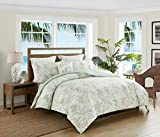 """Full/Queen Size Luxury 4-Piece Set Dimensions: (1) Comforter: 90"""" X 90"""" - (2) Pillow Shams: 20""""X 26"""" - (1) Decorative Square Pillow: 18"""" X 18"""" - Fits for both Full Size and Queen Size Beds LUXURY MEETS PERFORMANCE: Caribbean Joe provides superior per..."""