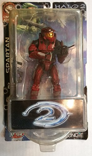 Joy Ride Halo Limited Edition Battle Damaged Red Master Chief [79056] (with Assault Rifle, Sniper Rifle and Needler)