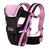 2-30 Months Baby Carrier, Ergonomic Kids Sling Backpack Pouch wrap Front Facing Multifunctional Infant Kangaroo Bag (Pink)