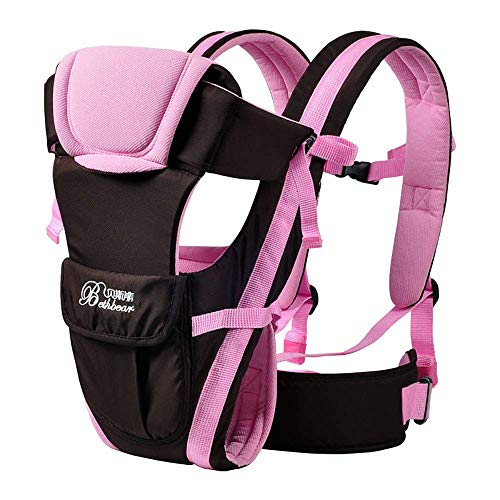 2-30 Months Baby Carrier, Ergonomic Kids Sling Backpack Pouch wrap Front Facing Multifunctional Infant Kangaroo Bag (Pink)