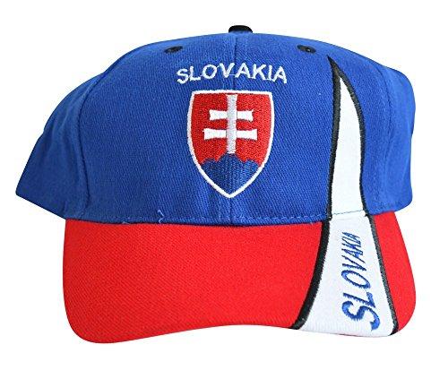 Flaggenfritze Kappe Motiv Slowakei Fahne, Fan - Cap mit slowakischer Fahne