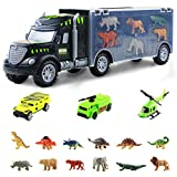 Nuheby Car Enfant Dinosaures Jouet Truck Cars Transporter, Jouet Dinosaur avec Miniature car for Enfant 3 4 5 Ans Fille Garcon Jeu Educatif Cadeau