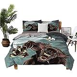 Lannel Bed Sheets Queen Night Skyline Werewolf Full Size Sheets W79 xL90