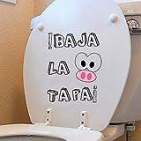 Oedim Vinilo Decorativo para WC Frase Divertida 28 x 31 cm   Adhesivo de Fácil Colocación   Pegatina para Inodoro Económica y Resistente   Sticker