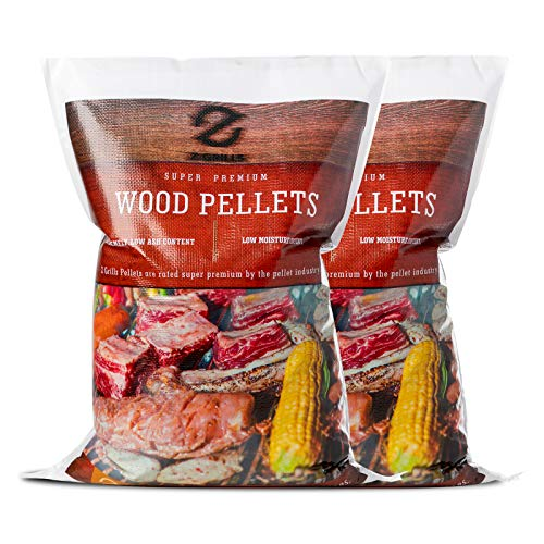 Z GRILLS 100% All-Natural Flavor American Oak Hard Wood Pellets for Grill, Smoke, Bake, Roast, Braise & BBQ Holzpellet, 2 Packungen, insgesamt 18 kg, 2 Packs Total 40lbs