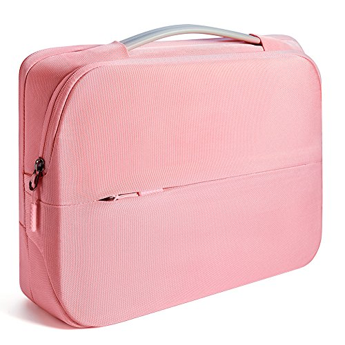 KALIDI 15.6 inch 360°Protective Case Laptop Sleeve Briefcase Water-Resistant for MacBook Pro 15 (A1398),15~15.6 inch HP/Samsung/Lenovo/Dell/ASUS/Acer/Toshiba Notebook,Pink