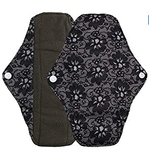 Tia-Ve Reusable Charcoal Bamboo Mama Pads Menstrual Pads Sanitary Napkins Pad -Night time protection