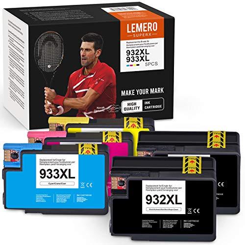LEMERO SUPERX Cartucce d'inchiostro Compatibili per HP 932 XL 933 XL 932XL 933XL per HP Officejet 6700 6600 6100 7510 7612 7110 7610