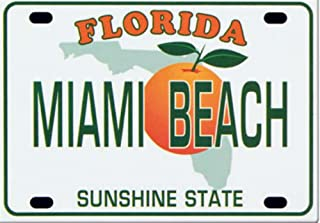 Miami Beach Florida License Plate Fridge Collector's Souvenir Magnet 2.5