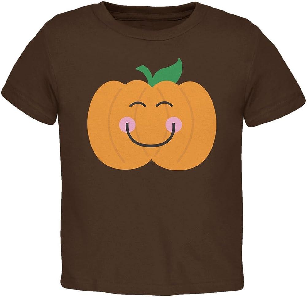 Halloween Little Pumpkin Brown Toddler T-Shirt