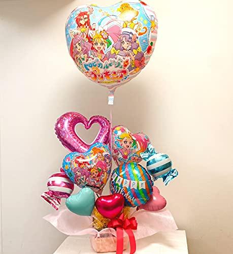 トロピカル?ジュプリキュア バルーン ギフト  女の子のお誕生日やお祝い、発表会に… (バースデーアレンジメント)