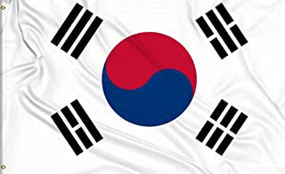 Aimto 3x5 Foot South Korean Flag - Nicely Stitched and Vivid Bright Color - South Korea Flag Indoor & Outdoor …