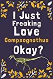 "I Just Freaking Love Compsognathus Okay?: (Diary, Notebook) (Journals) or Personal Use for Men, Women and Kids Cute Gift For Compsognathus Lovers. 6"" x 9"" (15.24 x 22.86 cm) - 120 Pages"