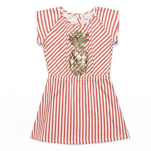 ESPRIT KIDS Mädchen Knit Dress SS Kleid, Rosa (Coral 323), (Herstellergröße: 116+)
