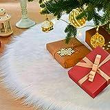 laxikoo 122cm Gonna Albero di Natale, Albero di Natale Gonna Copertura di Base Bianco Pelu...