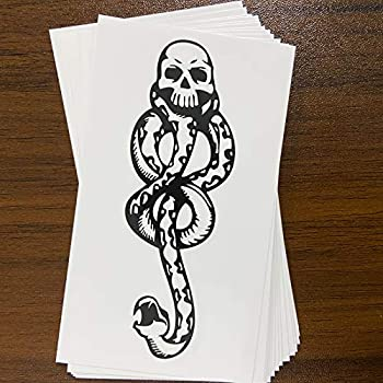 16 Sheets PADOUN Temporary Tattoos Snake Death Eaters Dark Mark Skull Temporary Tattoo for Men Women Kids Costume Accessories and Parties