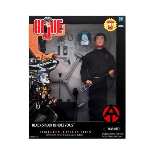 "12"" GI Joe Adventure Team Black Spider Rendezvous Set with Kung-Fu Grip Action Figure Timeless Collection"