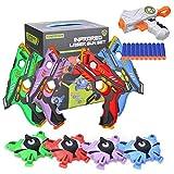 Laser Tag Set mit Westen 4er für Kinder, Laser Tag Game Mehrwaffenmodi Spielzeuglaser für Jungen und Mädchen im Innen- und Außenbereich sowie Familiengruppenaktivitäten
