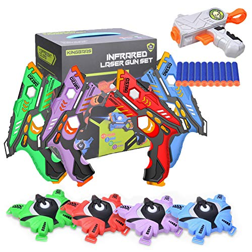 KingBaas Laser Tag - Pistole e Gilet Laser a Raggi infrarossi Set di 4 Giocatori per...