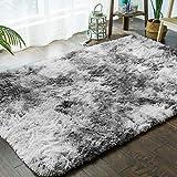 Ultra Doux Intérieur Tapis Moelleux Shaggy Polyester Gris Clair Tapis Écologique Salon Chambre Décor,200x300cm