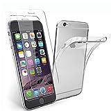 NEW'C Cover per iPhone 6 e iPhone 6s (4.7') Gel TPU in silicone ultra trasparente e 2 × vetro temperato per...