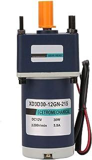 Reductor de velocidad ajustable 12V / 30W, motor reductor de reducción permanente 3000 / 3200RPM de imán permanente eléctrico(30RPM)