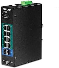 TRENDnet 10-Port Industrial Gigabit L2 Managed PoE+ DIN-Rail Switch, TI-PG102i, 8 x Gigabit PoE+ Ports, DIN-Rail Mount, 2 x SFP Slots, 24 – 57V DC Power Input, IP30, VLAN, QoS, Lifetime Protection