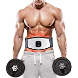 Cinturón de tonificación abdominal, cinturón de masaje estimulador muscular portátil, equipo de entrenamiento físico para las extremidades del abdomen en la oficina en casa, relajación de estómago aju