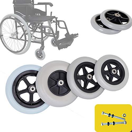 SMYH Räder Für Rollstuhl Vorderes Kleines Rad 15-20cm Verdicken Ersatz Lenkrollen Für Rollstuhl Grau 1 Paar