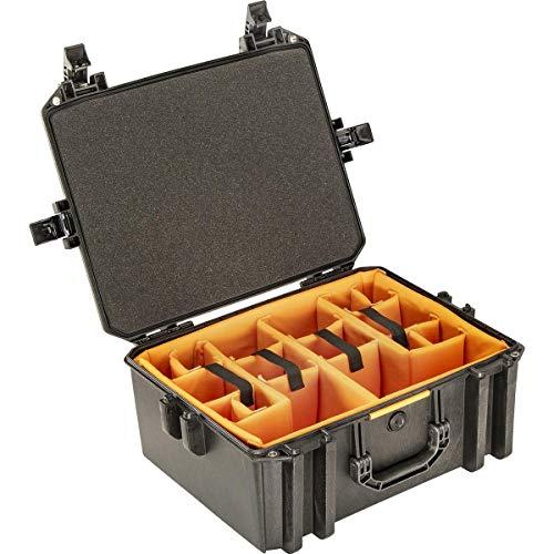 Pelican Vault V550 Standard Equipment Case with Lid Foam and Dividers, Black