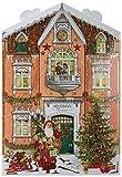 Adventskalender in Hausform gefüllt mit feinsten Edelvollmilchfiguren Für Kinder geeignet, da alkoholfrei