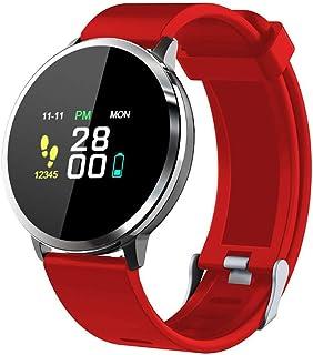 Rastreadores De Fitness, Pantalla a Color Impermeabile Reloj Inteligente Reloj Pulsómetro Presión Arterial Monitor De Sueño Podómetro Recordatorio sedentario Reloj Inteligente