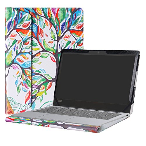 Alapmk Diseñado Especialmente La Funda Protectora de Cuero de PU Para 14' Lenovo Ideapad 120s 14 120s-14IAP Series Ordenador portátil,Love Tree