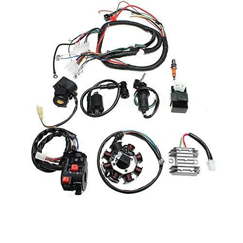 MHUI Elektrokabelbaum Kit, Zündspule CDI Regulator Set Für ATV Quad 150/200 / 250CC