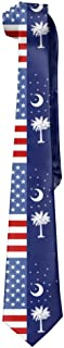 SARA NELL Mens American South Carolina Flag Fashion Silk Ties Personalized Gift Neckties