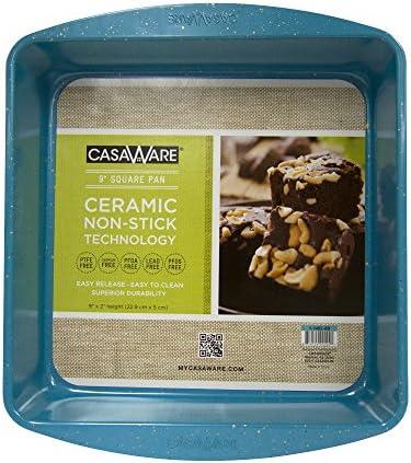 casaWare Ceramic Coated NonStick 9in Square Cake Pan Blue Granite product image