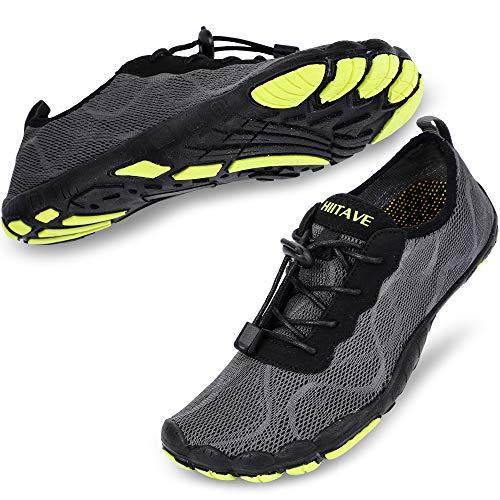 HIITAVE Men Barefoot Water Shoes Beach Aqua Socks Quick Dry for...