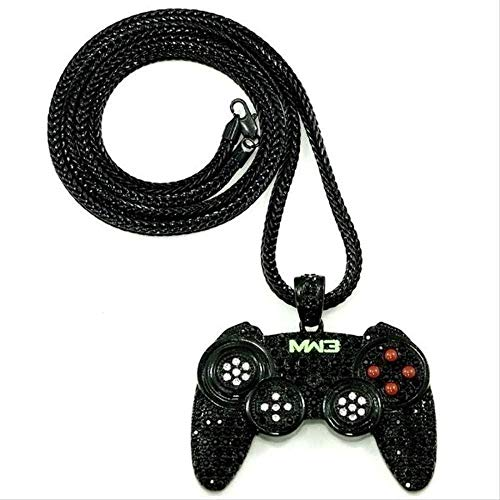 LBBYMX Co.,ltd Collar de Moda diseño Creativo Controlador de Videojuegos Colgante Collar de Cadena Chapado en Oro Hip Hop Party Club joyería