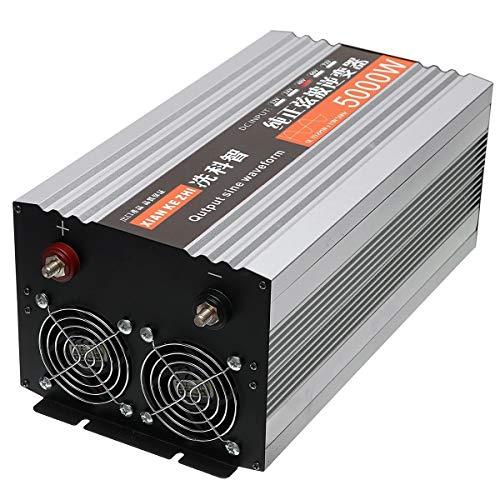 N\A Coche inversor de energía 12V / 24/48 / DC a 220V AC 60Hz 5000W Convertidor Puro de visualización de Onda sinusoidal de Doble LED de Potencia del inversor (Voltage: : 12V)