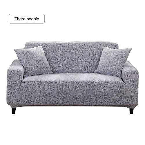 ChicSoleil Elastische Sofabezug Stretch Sofa-Überwurf mit modernen Muster Sofaüberzug Sofahusse Polyester Schonbezug für Sofa, Couch, Sessel