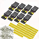 YETOR 6 pin connector kit, 8 Kit Car Auto Electrical Connectors Series Terminals Water Resisted for Car, Truck, Boat(6 pin Connector)
